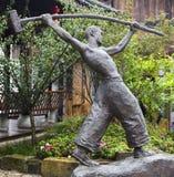 La scultura in città antica del mA ha cantato Xi, Chongqing fotografie stock libere da diritti