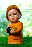 La scultura del debuttante sorridente del fronte Fotografia Stock