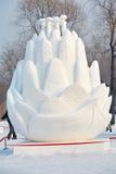 La scultura del fiore della neve Immagine Stock Libera da Diritti