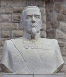 La scultura del kopf della collina nella stazione ferroviaria di sludyanka, Federazione Russa Fotografia Stock Libera da Diritti