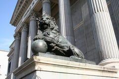 La scultura del leone Fotografie Stock