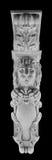 La scultura del leone del gesso, prende a pugni la colonna immagini stock libere da diritti