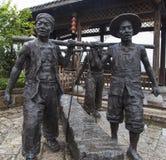La scultura dell'agricoltore in città antica del mA ha cantato Xi, Chongqing fotografie stock libere da diritti