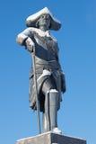 La scultura dell'imperatore russo Paolo I, primo piano del giorno soleggiato di febbraio Il monumento al palazzo di Pavlovsk Fotografia Stock Libera da Diritti