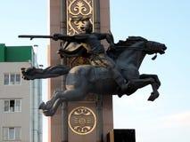 La scultura dell'uomo del cavallo Fotografie Stock