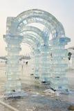 La scultura di ghiaccio - arco Immagini Stock Libere da Diritti