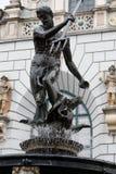 La scultura di Nettuno a Danzica, Polonia. Fotografie Stock Libere da Diritti