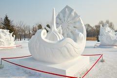 La scultura di neve - canzone dell'antenato Fotografia Stock Libera da Diritti
