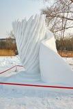 La scultura di neve - farfalla Fotografie Stock