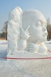 La scultura di neve - lassock Fotografie Stock Libere da Diritti