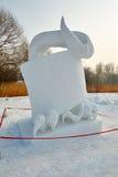 La scultura di neve - nessun problema Fotografia Stock