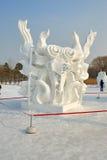 La scultura di neve - rinascita Fotografia Stock