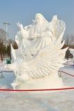 La scultura di neve - tolleranza del pascolo Fotografia Stock Libera da Diritti