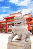 La scultura di pietra del leone Immagine Stock Libera da Diritti