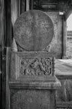 La scultura di pietra della base di colonna Fotografie Stock Libere da Diritti
