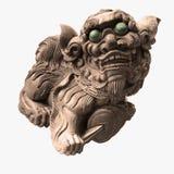 La scultura di pietra isolata del tempiale cinese Fotografia Stock Libera da Diritti