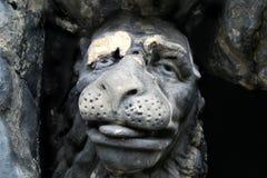 La scultura di un leone Fotografie Stock Libere da Diritti