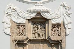 La scultura gotica della chiesa di seminario Immagini Stock Libere da Diritti