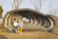 La scultura nel parco della scultura di Wuhu (l'Anhui) Fotografia Stock