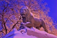 La scultura in San Pietroburgo, Russia del leone Immagini Stock