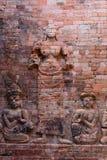 La scultura in tempio di Prasat Kravan Fotografia Stock