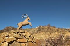 La scultura vicino al villaggio di Haghpat, Armenia Fotografia Stock
