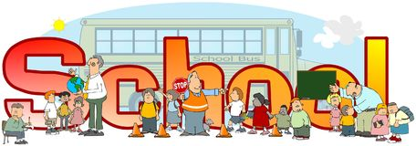 La scuola di parola royalty illustrazione gratis