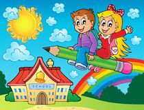 La scuola scherza l'immagine 7 di tema Fotografia Stock Libera da Diritti