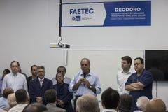 La scuola tecnica è stata aperta con Rio 2016 risorse olimpiche del comitato Immagine Stock Libera da Diritti