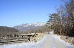 La señal de Boone en invierno Imagen de archivo libre de regalías