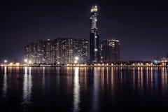 La señal 81 es un rascacielos estupendo-alto actualmente bajo construcción en Ho Chi Minh City, Vietnam, que fue diseñado por los Imagenes de archivo