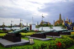 La señal más famosa de Bangkok fue construida 1782. El conclu del palacio Fotografía de archivo