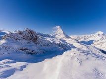La señal suiza fotografió en el tiempo más hermoso Fotos de archivo