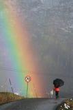 La señora del arco iris Fotos de archivo libres de regalías