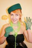 La señora en un sombrero Fotografía de archivo libre de regalías
