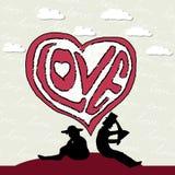 La señora y el caballero caen en amor Imagen de archivo