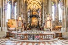 La se?al de Viena - la catedral de St Stephen, Austria fotografía de archivo