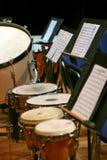 La sección de la percusión Fotos de archivo
