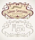 La secesión diseñó etiquetas Imagen de archivo libre de regalías