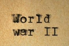 La seconda guerra mondiale Immagine Stock