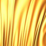 La seda hermosa del oro agita el fondo del lujo de la tela Fotografía de archivo libre de regalías