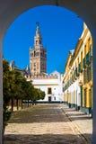 La Sede de Catedral de Santa María de em Sevilha Fotos de Stock