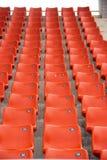 La sedia arancio nella palestra Fotografie Stock Libere da Diritti