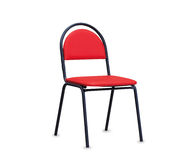 La sedia dell'ufficio da cuoio rosso Isolato Fotografia Stock Libera da Diritti