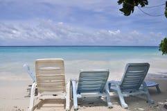 La sedia di spiaggia immagini stock libere da diritti