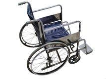 La sedia a rotelle ha isolato la vista laterale con ruggine una certa superficie Immagine Stock Libera da Diritti