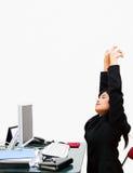 La segretaria streching Immagine Stock