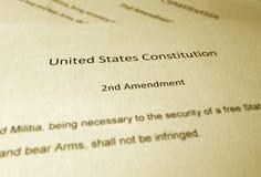 La segunda enmienda foto de archivo libre de regalías