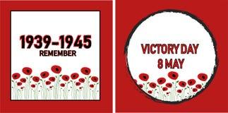 La Segunda Guerra Mundial, amapola florece el fondo libre illustration