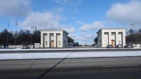 La Segunda Guerra Mundial leningrad Cementerio de Piskarevskoye almacen de metraje de vídeo